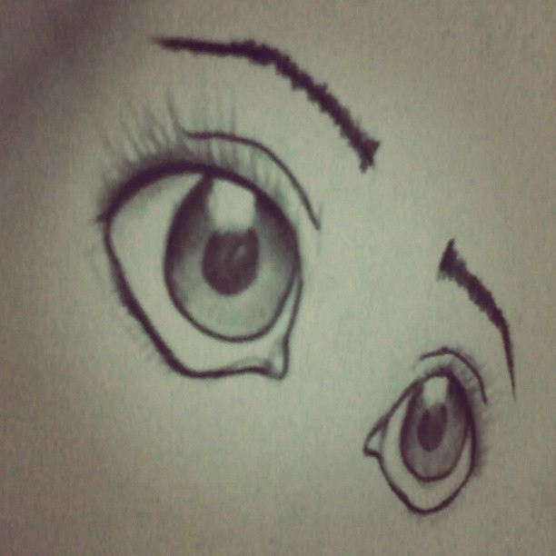 What can you read out of it? Never thought I can ever  draw a pair of eyes, yet I did it :) #doodle #eyes