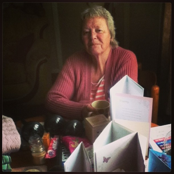 Happy birthday to my amazing nanny #nanny #nan #love #family #cute #aww #bless #birthday #happy #cards #presents