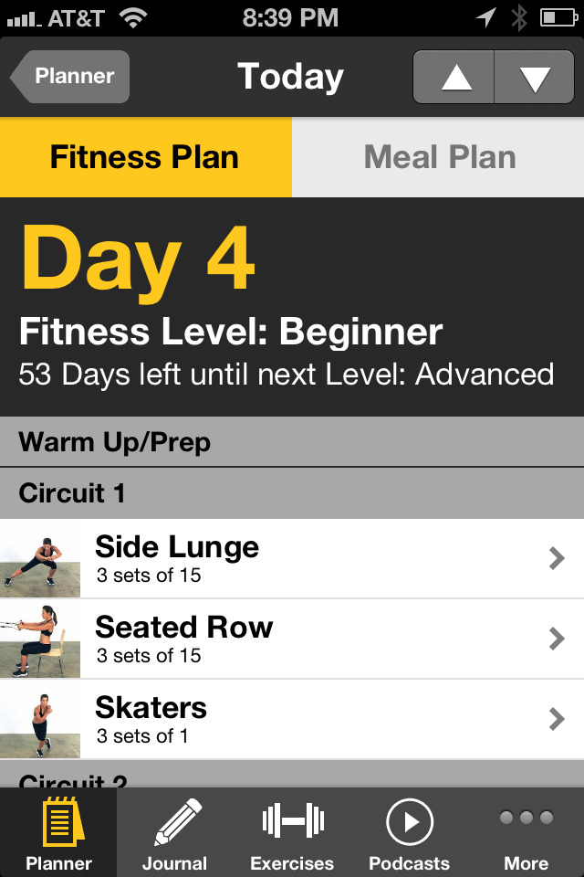 Here is one out of the 5 circuits that is in my fitness plan for today!  So I signed up for this program through http://www.jillianmichaels.com/fit/ Basically you fill out a ton of information and they customize a meal plan and workout plan for you and your weight goals. I also have been getting alerts everyday on my phone from Jillian reminding me to get up and exercise and to follow my meal plan. I'm hoping with constant encouragement and guidance this will help me get on track and stay there!