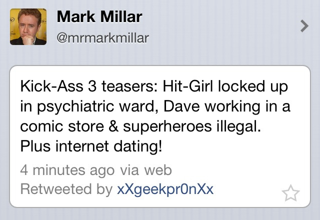 Straight from the hand of Mark Millar..