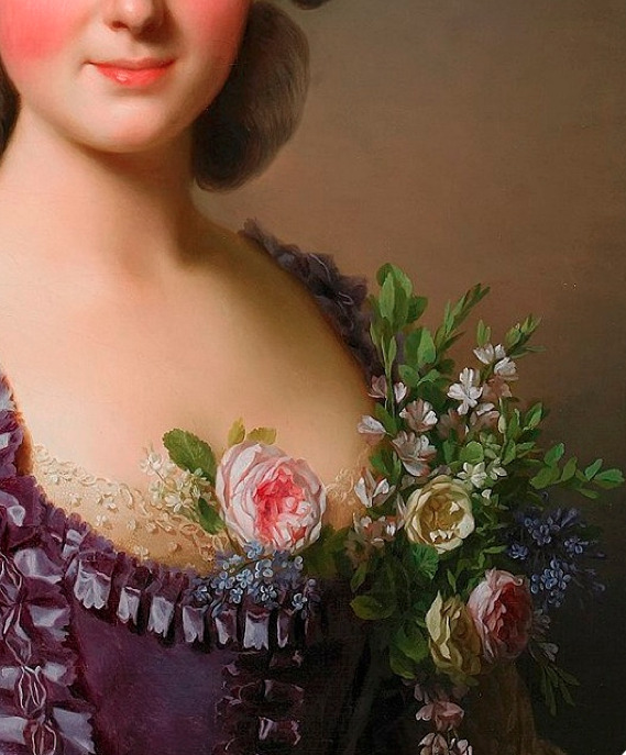 detailsofpaintings:  Alexandre Roslin, Portrait of Countess de Bavière-Grosberg 1780