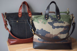 ALL-DAY BAG  ( CAMOUFLAGE  & LEATHER SERIES) http://www.les-petites-series.com contact@lespetitesseries.com