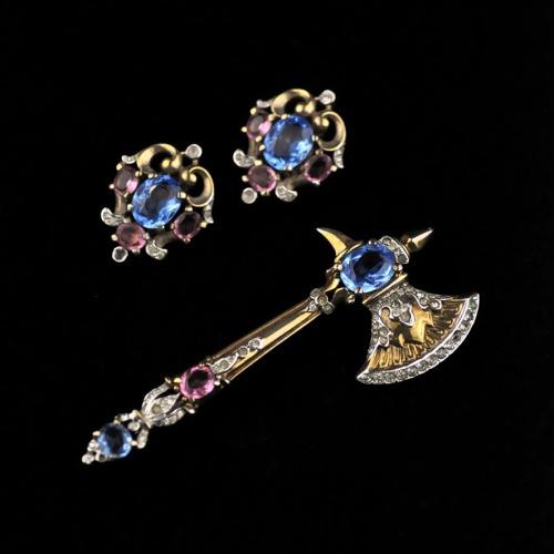 jewelry vintage earrings bracelet trifari