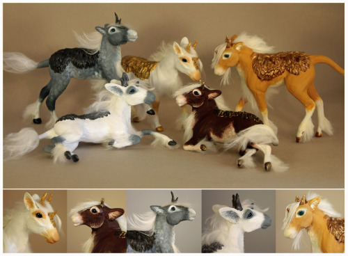 Kirin foals are finished and for sale on etsy: https://www.etsy.com/shop/scenceable They are each ooak sculptures made from polymer clay