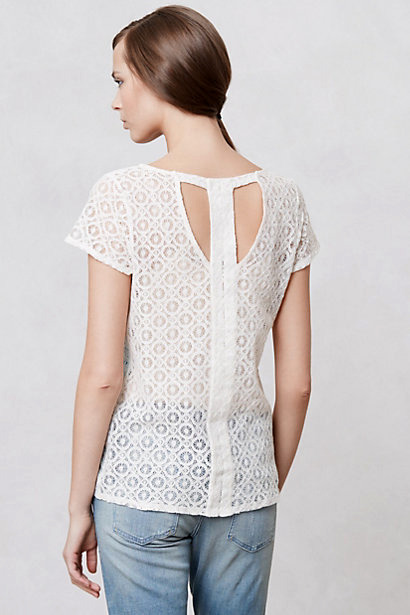 [Pinhole Lace Tee by Anthropologie]