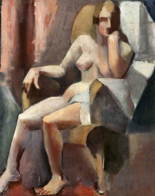 anweledig:  M. Jellett, Seated Female Nude, 1921-1922, oil on canvas, National Museums Northern Ireland, Cultra, Holywood (Northern Ireland)