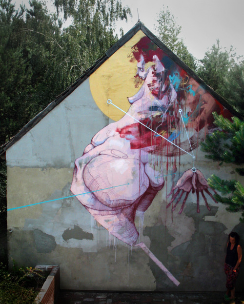Mural made by Sepe in Krezel (Poland) 2012