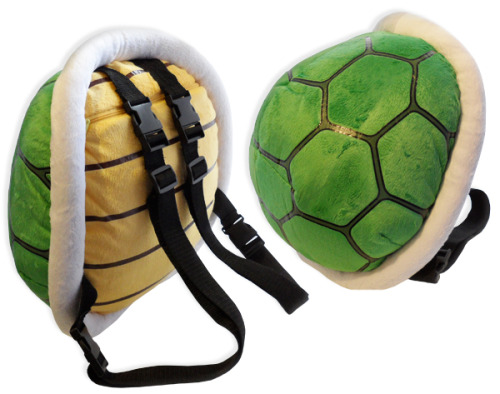 copiouslygeeky:  Koopa Shell Backpack  A.K.A the coolest backpack ever.  Available on Amazon