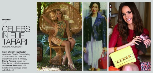 Erin Heatherton, Emmy Rossum and Louise Roe. These leading ladies steal this show in Elie Tahari. View ETC Magazine.