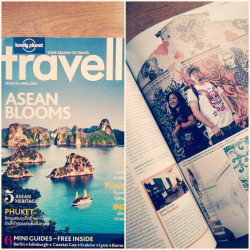 "Check out the latest issue of Lonely Planet Traveller magazine ""Thailand""edition issue 20 April2013 for the feature on Phnom Penh , me and Lisa have been included as part of The Artistic Smile in Cambodia. The article is written by Saranyu Nokkaew and photography by Arunothai Puttaruksa … Thanks for the love :) ""making it happen in Phnom Penh City """