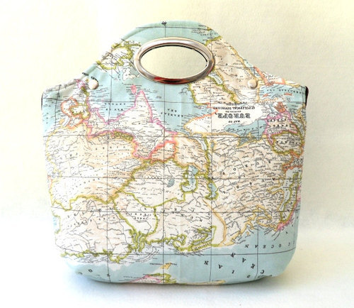 sosuperawesome:  World Map Bags by renklitasarimlar