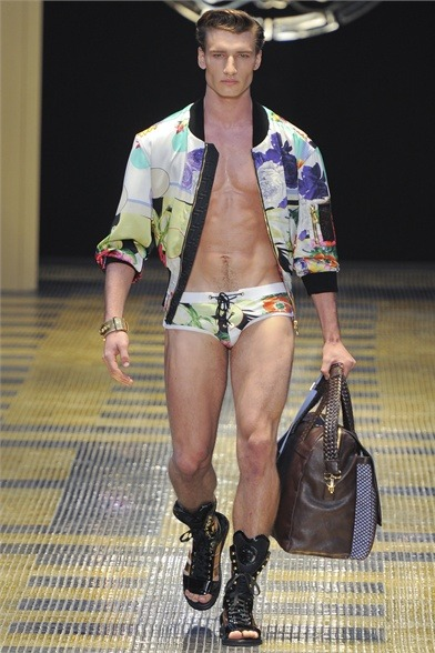 mensfashionworld:  Versace S/S 2013  An urgent meeting of the Gods on the summit of Mount Olympus comes to the conclusion that: They should really leave Hermes alone, it's probably just some phase he's going through.