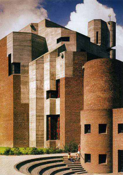 architectureofdoom:  Christi Auferstehung church, Köln-Lindenthal, Gottfried Böhm, 1968–70