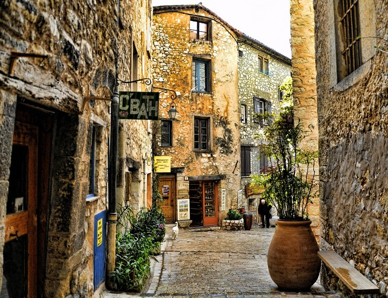 | ♕ | Ancient alley in Tourettes, Provence  | by © Martin Pinker