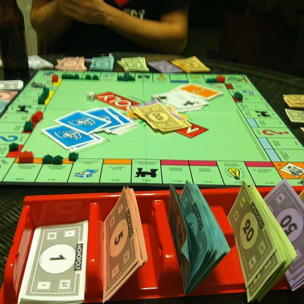 Being the first one out in monopoly and just being banker «« 😩