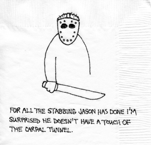 It's National Killing Machine Awareness Day Matta Napkin #377 http://mattainc.blogspot.com/