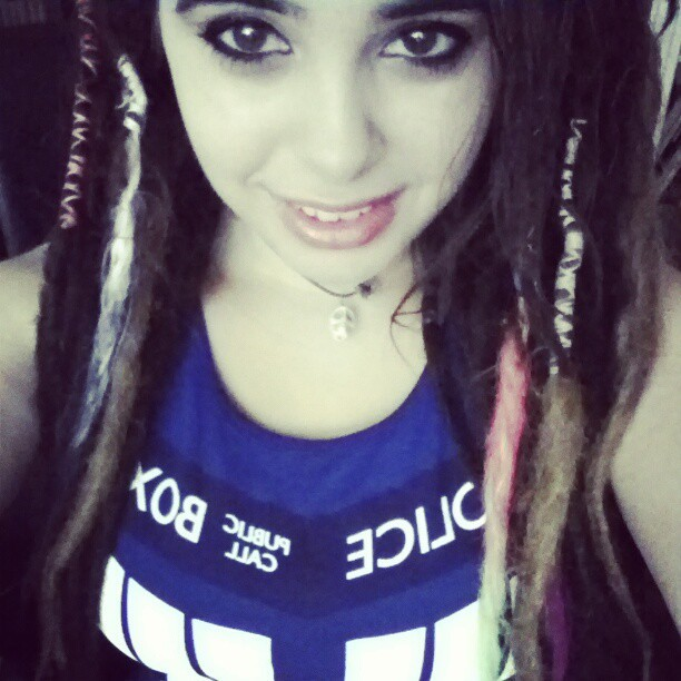 My new favorite dress c: #me #dreads #tardis #geek