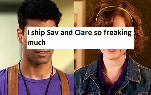 "thisisaconfessionblog:  ""I ship Sav and Clare so freaking much."""