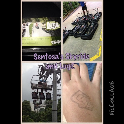 Sentosa's Skyride and Luge.   A Good Friday spent well.