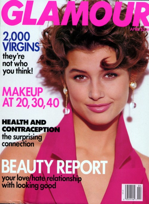 Glamour US, April 1992Model : Bridget Moynahan