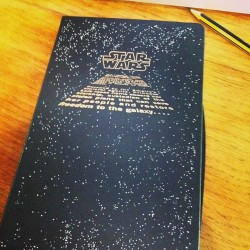 Starting my new #star #wars #moleskine note book… #phd time