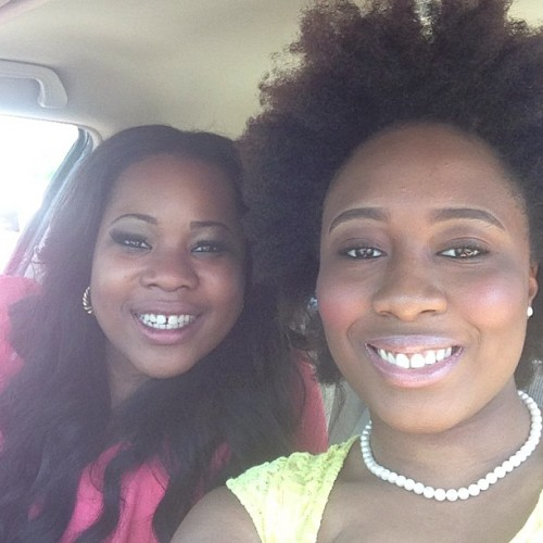 Me and @naija_babe safely taking a picture at a red light 😊. Everytime we go out, they think we're sisters.We've literally been together like all weekend. She can't get enough of me. I don't blame her ☺ #happysunday #graduationweekend #shegetsonmynerves #yetwestilltogether #yeahimfun #laughtillwecry #strangersbetalkintoher #omoniaja #friendsthataresisters #bethankful #GodisGood #shelovethehashtags