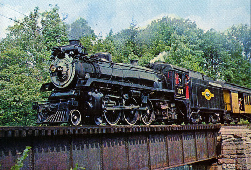 Steamtown 127  —postcard by vistadome dot com on Flickr.