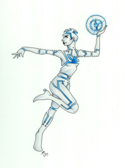 cindymorganinfo:  Yori from Tron by ~conscience111 My father was a small Arms Instructor in WWII. I could have hit a mark as well as any one of the Boys!