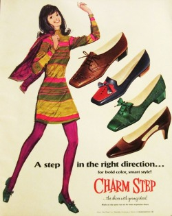 theswinginsixties:  1960s shoe advertisement.