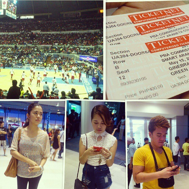 Game 1. FIGHT! Go Ginebers anlalaki niyo!!!! #GinebraVsAlaska #PBA with @lespascua @chadiii18  (at Smart Araneta Coliseum)