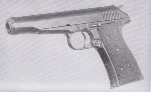 "Here's a neat one. Many firearms enthusiasts are aware of Pedersen's Remington Model 51, widely considered to be one of the finer (if mechanically complicated) pocket pistols, being very accurate, pleasant to shoot and extremely ergonomic. It's method of operation was not simple blow-back, but rather ""hesitation"" lock or action: ""During firing, the cartridge case is set back about .08"" by chamber pressure. This starts the rearward movement of the breechbolt and slide. The breechbolt engages a shoulder on the frame after having traveled about 3/32"". The slide continues rearward, lifts the breechbolt out of its temporary engagement, and continues to compress the action spring."" While it was later recognized that a locking action was unnecessary for the .25 or .380 small pistol rounds, relatively few people know that a .45acp prototype was built for testing by the Navy as a potential replacement for the 1911. Reports indicate that with its fixed-barrel and low bore axis, the .45 Remington-Pedersen Model 53 outperformed the 1911 in just about all areas and was tentatively chosen, however a sudden entrance into WWI made it so that the already tooled-up 1911 continued being produced and the Model 53 fell by the wayside. Considering the continued acceptance of the 1911, perhaps this model, if reintroduced, would prove to be as much of a success in the civilian market as it apparently was with the Navy. [recently it was pointed out to me by an industry insider that the current day .45acp loads are probably hot enough to cause problems for the hesitation lock system. What would be an acceptable self-defense round to split the difference between .380 and .45? And don't say 9mm, that generates higher chamber pressure than .45]"