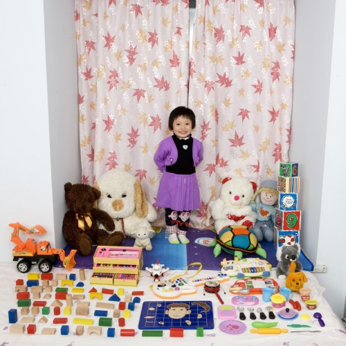 Toy Stories is a series by photographer Gabriele Galimberti. The series of photographs shows children from around the world with their favorite toys.