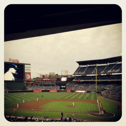 Big ups to @ginstrobe for hookin' a sister up with some killer @braves tix! Let's go #Braves! (at Turner Field)