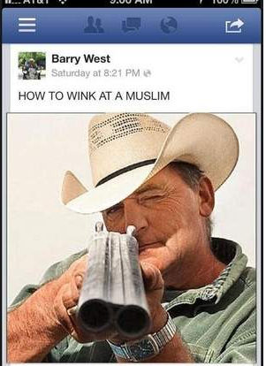 "Screenshot of an image that Middle Tennessee Commissioner Barry West posted on Facebook.  He responded in an email to The Tennessean: ""No I did not Twitter this … no I did not create this picture … yes I shared it … so why am I being singled out?"""