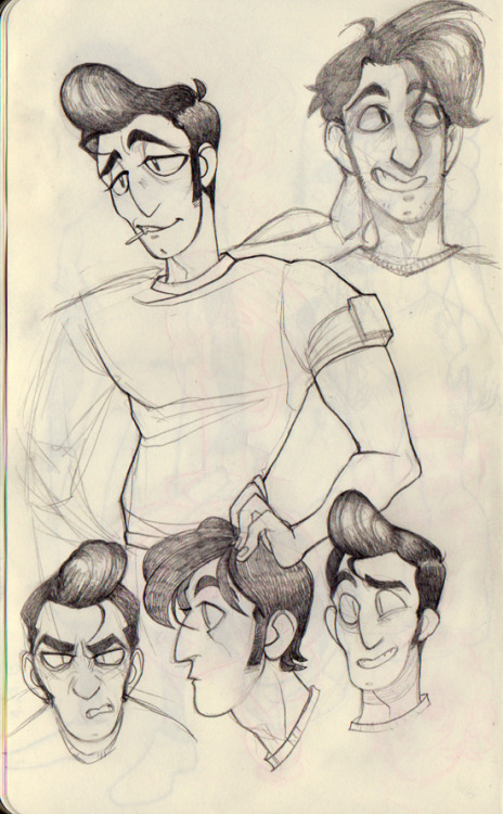 kinomatika:  more doodles of a yet to be named greaser