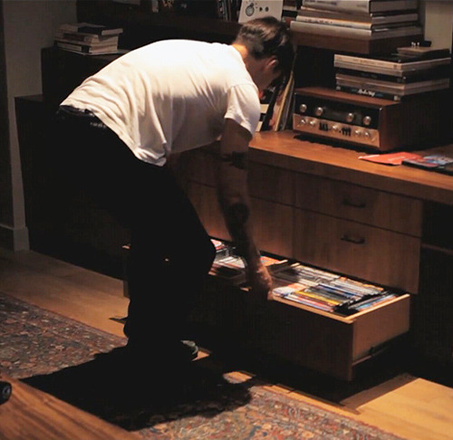 Anthony Kiedis checks out his DVD Collection at his Home in Malibu. From Episode 3 of The Crew