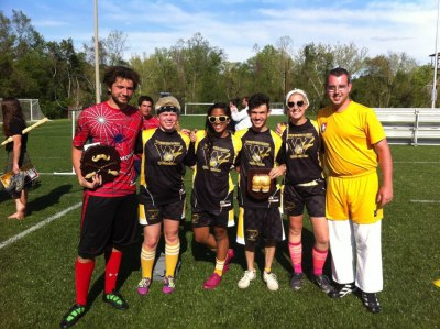 richmondquidditch:  With a heart that is currently undergoing conflicting emotions, we would like call attention to Nick Candido, this year's President and Richmond's first 4-year player, and Billy Rothert, ninja-turned-beater-and-snitch. Congratulations to you two and as well as VCU's seniors Haley, Katryna, Scott, and Ashleigh, all of whom graduated this past weekend. You'll be missed muchly, but we promise to keep the RVAQuidSwag rolling.