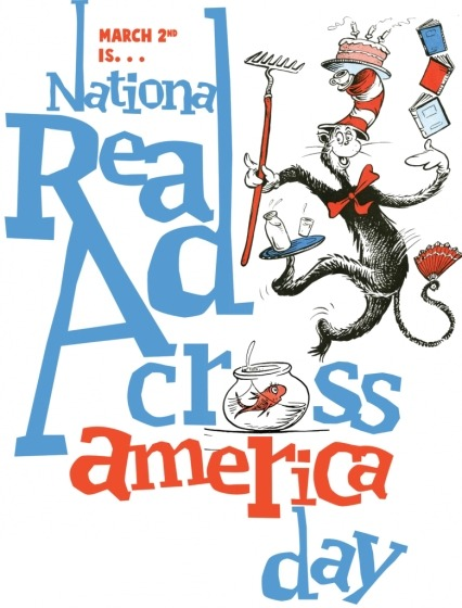 Happy Read Across America Day! This NEA-sponsored celebration is held in honor of Dr. Seuss' birthday. Tomorrow, he would have been 109 — but there are events in his honor all across the country today. Check the Read Across America website for information on story hours and book swaps near you. Plus, take the Reader's Oath! How are you celebrating?