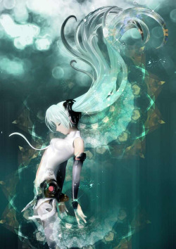Miku Append with visual effect by 憂