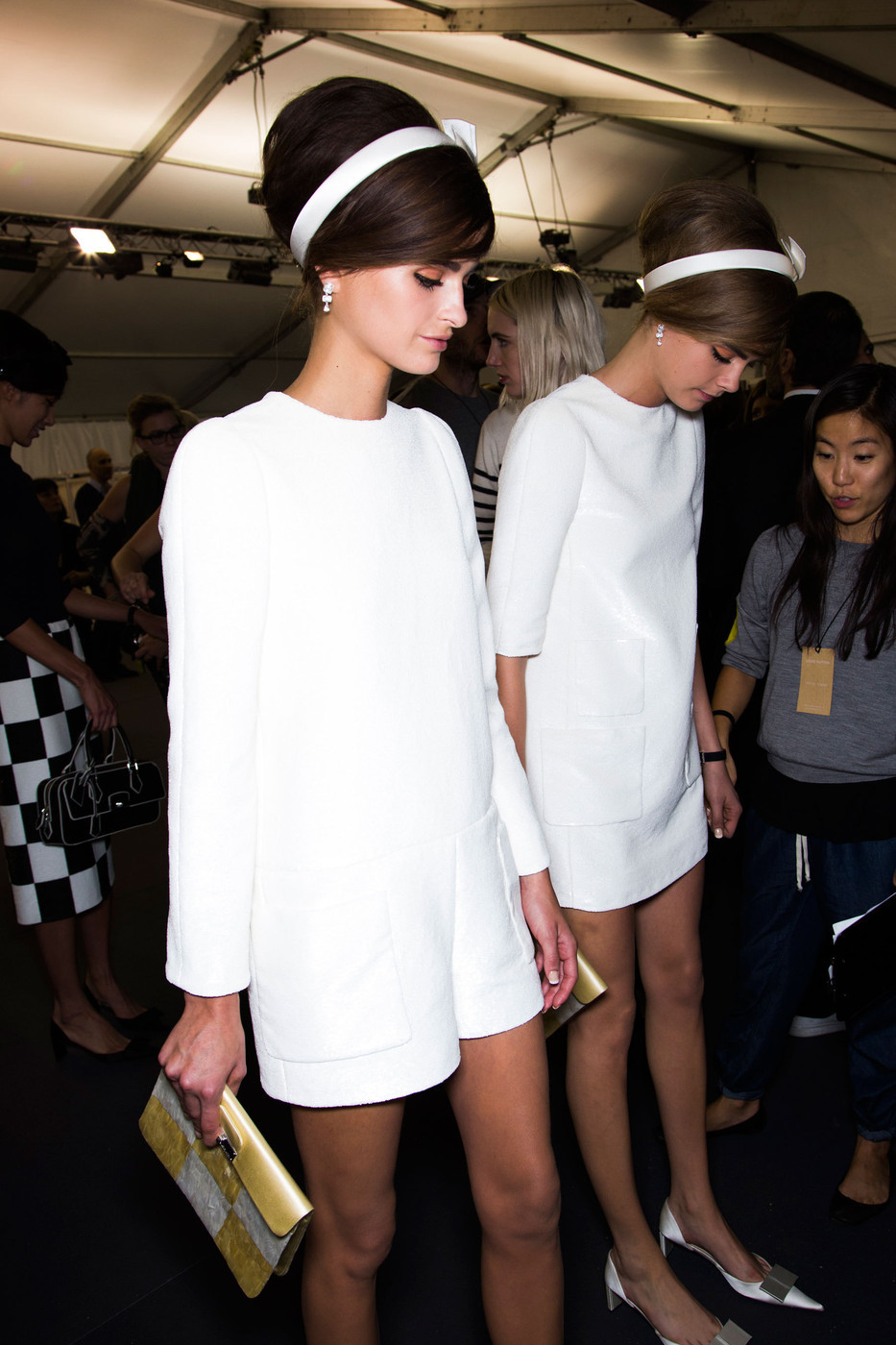 catwalkclub:  Loulou Robert & Cara Delevingne backstage at Louis Vuitton Spring 2013