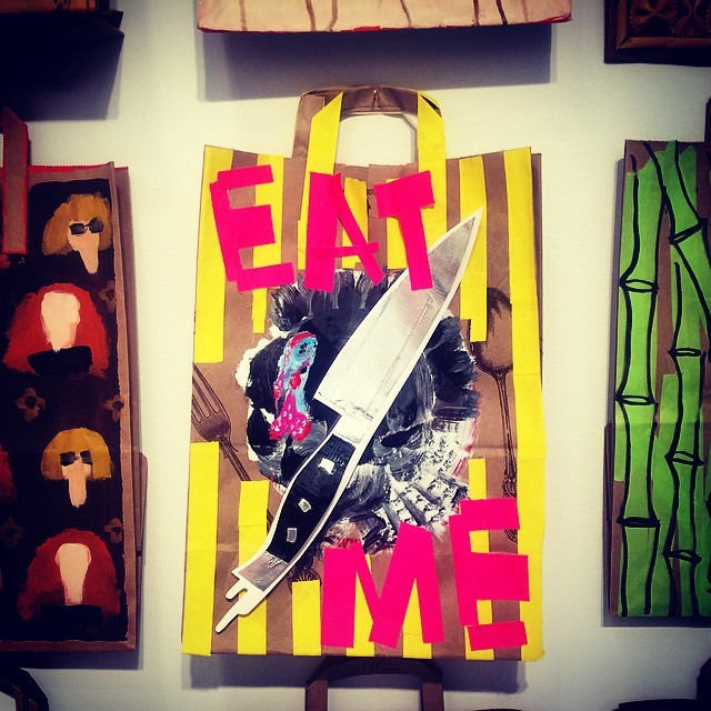I got a message for Monday… (Wish I could trade today for the day I spent in the Hamptons at this art fair) #art #craft #mesaage #monday #soalife #soundofart #scavengerofart #summerofart #hamptons #artmarkethamptons #newyork #eatme #exhibit