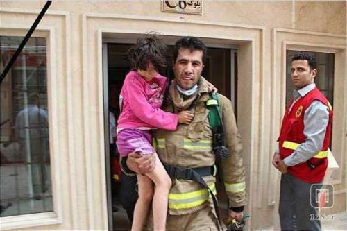 This Iranian Firefighter, Omid Abassi, saved a 9 years old girl by giving his oxygen mask to her, became brain dead then his body organs saved 4 other lives. (article and more pictures in comments) - Imgur