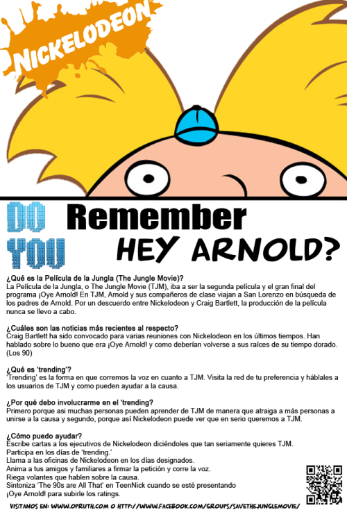 youreverydayheyarnold:  PRINT EM, SPREAD IT, GIVE OUT THE INFO!