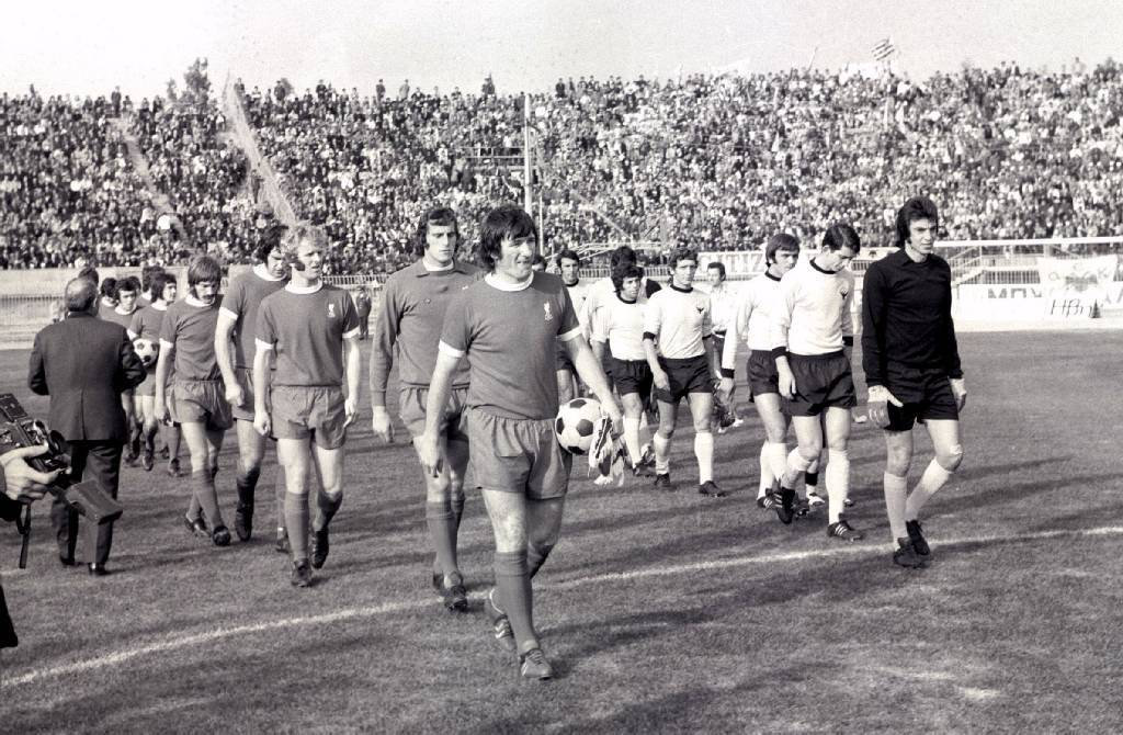 AEK v Liverpool (1-3) UEFA Cup 1972/73: Second round, 2nd leg. November 7, 1972.Source: SentraGoal