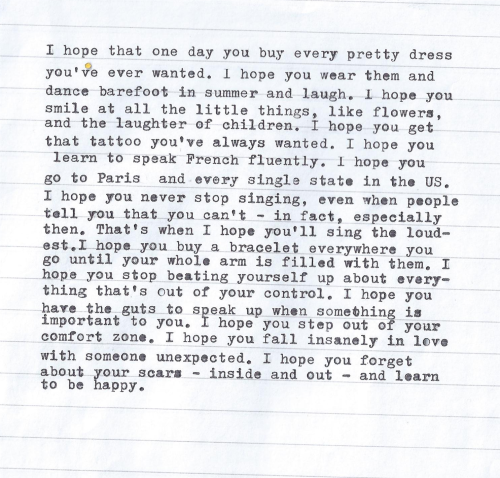 starrious:  home-withbrokenhearts:  87/365 - Drops Of Jupiter a letter to myself and anyone else that might need it  ♡