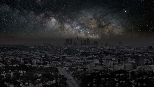 How Los Angeles would look at night without lights.  Via.