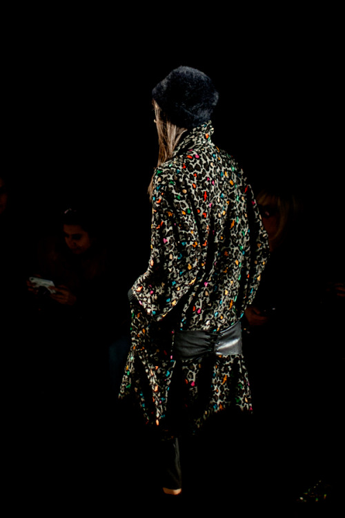 Loving this multicolor faux-fur coat from the Tracy Reese Fall 2013 runway show.