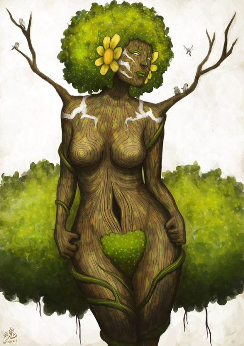 fuckyeablackart:  Goddess of Earth by Ry-SpiritVisit fuckyeablackart.tumblr.com