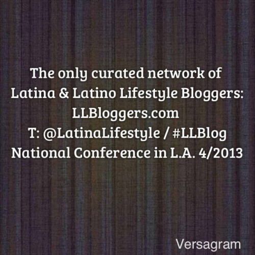 "STD: #lallblog13 #national #lifestyle #conference created by THE ONLY Network for #latino and #latina #lifestyle #bloggers in partnership with So Cal Lady Bloggers / #sclb and #BlogTrends - Special Guest: #LatinoFashionWeek / #LFW  #fashion #fatshion #food #travel #cooking #latinabloggers #style #beauty #health #decor #diy #art #crafts #community #learn #grow #tech #gaming #writing #llblog @Versagram App! #versagram #versalove - Buy your ticket here: https://lallblog13.eventbrite.com/ and use code ""early"" to save $50!!"
