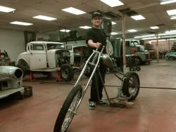 "8ft of ""Milwaukee iron"" chopper"